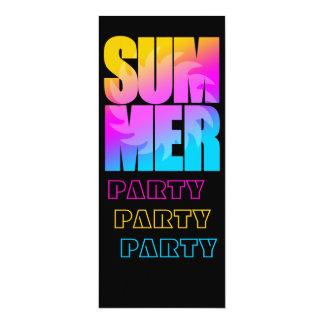 """Corey Tiger 80s Summer Sun 4"""" X 9.25"""" Invitation Card"""