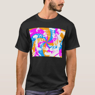 COREY TIGER 80's SWIRL TIGER FACE T-Shirt