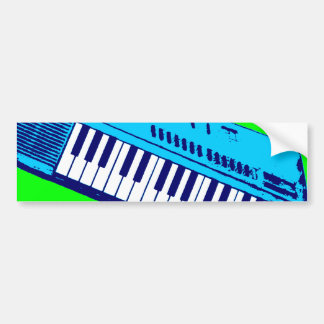 Corey Tiger 80s Synthesizer Keyboard Bumper Sticker