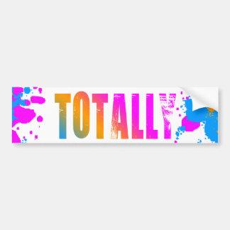 Corey Tiger 80s Totally Splatter Paint Bumper Sticker