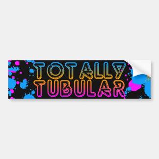 Corey Tiger 80s Totally Tubular Splatter Paint Bumper Sticker