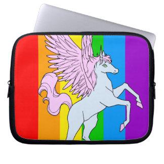 Corey Tiger 80s Unicorn Rainbow Laptop Computer Sleeve
