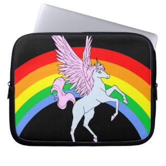 Corey Tiger 80s Unicorn Rainbow Laptop Sleeves