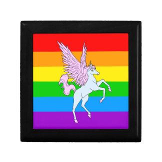 Corey Tiger 80s Unicorn Rainbow Small Square Gift Box