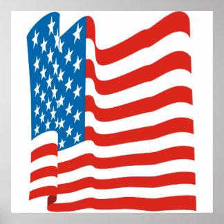 Corey Tiger 80s Vintage American Flag Print