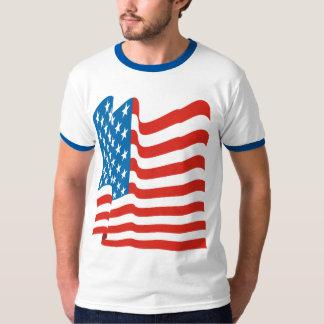 Corey Tiger 80s Vintage American Flag Shirt