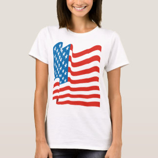 Corey Tiger 80s Vintage American Flag T-Shirt