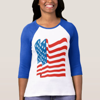 Corey Tiger 80s Vintage American Flag T-Shirt
