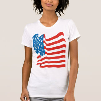 Corey Tiger 80s Vintage American Flag T Shirts