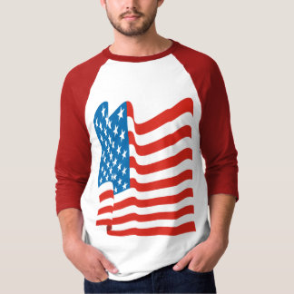 Corey Tiger 80s Vintage American Flag T-shirts