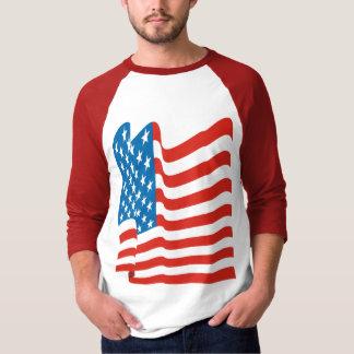 Corey Tiger 80s Vintage American Flag T-shirts