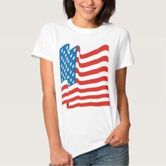Corey Tiger 80s Vintage American Flag Tee Shirt
