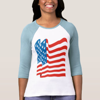 Corey Tiger 80s Vintage American Flag Tshirt