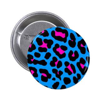 Corey Tiger 80s Vintage Blue Leopard Pin