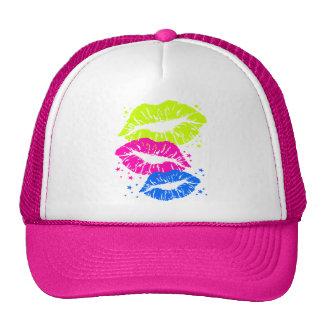 Corey Tiger 80s Vintage Lips & Stars Kisses Hat