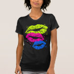 Corey Tiger 80s Vintage Lips & Stars Kisses Tshirt