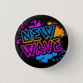 Corey Tiger 80s Vintage New Wave Neon Splatter 3 Cm Round Badge