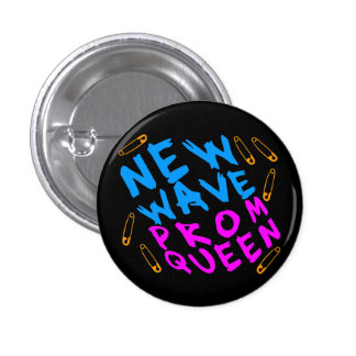 Corey Tiger 80s Vintage New Wave Prom Queen 3 Cm Round Badge