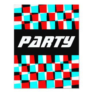 "Corey Tiger 80s Vintage Op Art 4.25"" X 5.5"" Invitation Card"