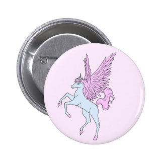 Corey Tiger 80s Vintage Pegasus Unicorn 6 Cm Round Badge