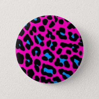 Corey Tiger 80s Vintage Pink Leopard 6 Cm Round Badge