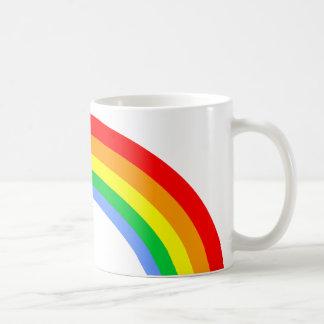 Corey Tiger 80s Vintage Rainbow Basic White Mug