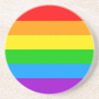 Corey Tiger 80s Vintage Rainbow Beverage Coaster