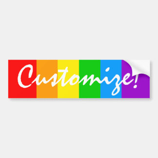 Corey Tiger 80s Vintage Rainbow Bumper Sticker