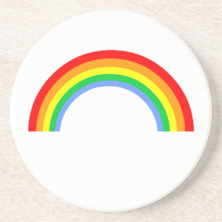 Corey Tiger 80s Vintage Rainbow Drink Coasters