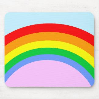 Corey Tiger 80s Vintage Rainbow Mouse Pad