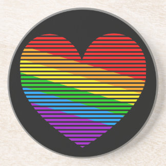 Corey Tiger 80s Vintage Rainbow Stripe Coasters