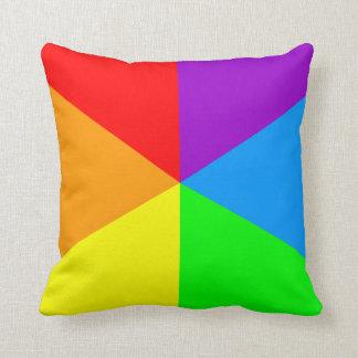Corey Tiger 80s Vintage Retro Rainbow Triangles Throw Pillow