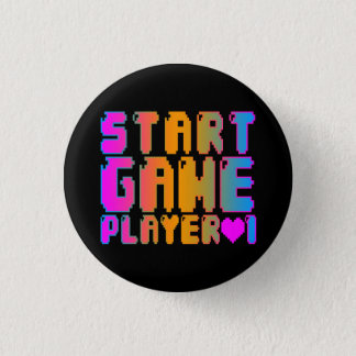 Corey Tiger 80s Vintage Start Game Player 1 3 Cm Round Badge