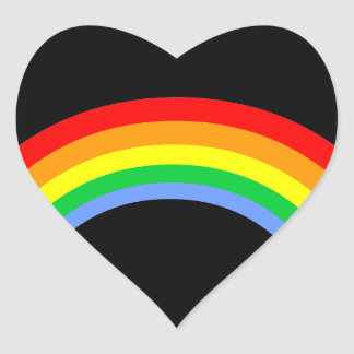 Corey Tiger 80s Vintage Style Rainbow Heart Sticker