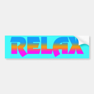 Corey Tiger 80s Vintage Style RELAX Bumper Sticker