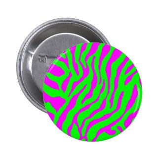 Corey Tiger 80s Vintage Tiger Stripes 6 Cm Round Badge