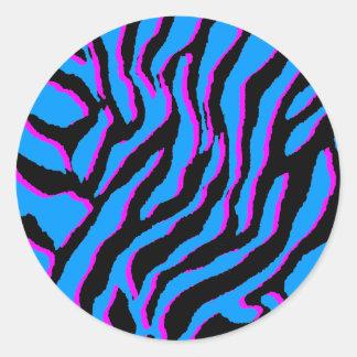 Corey Tiger 80s Vintage Tiger Stripes) Round Sticker