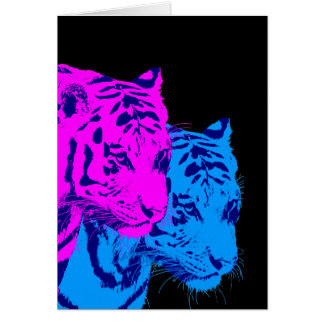 Corey Tiger 80s Vintage Twin Tigers Greeting Card