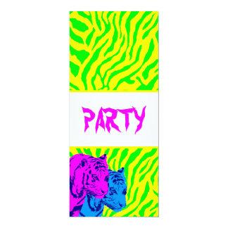 "Corey Tiger 80s Vintage Twin Tigers 4"" X 9.25"" Invitation Card"