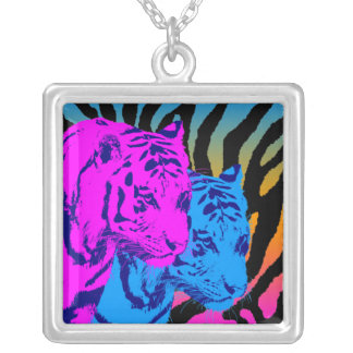 Corey Tiger 80s Vintage Twin Tigers Necklaces