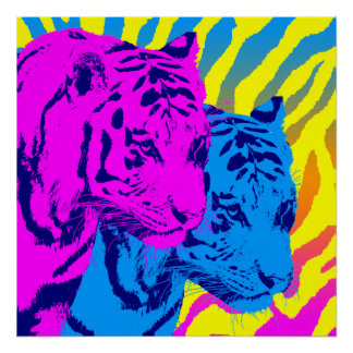 Corey Tiger 80s Vintage Twin Tigers Posters