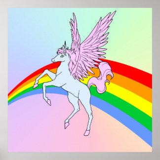 Corey Tiger 80s Vintage Unicorn Rainbow Print