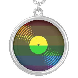 Corey Tiger 80s Vinyl Record Necklace Rainbow