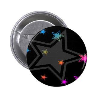 COREY TIGER EIGHTIES RETRO DISCO STARS 6 CM ROUND BADGE