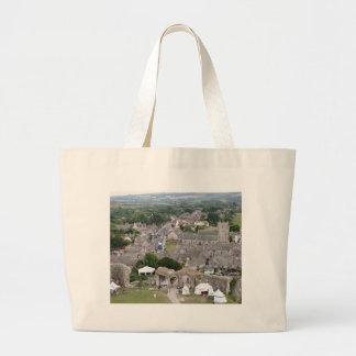 Corfe Castle, Dorset, England Large Tote Bag