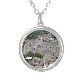 Corfe Castle, Dorset, England Silver Plated Necklace