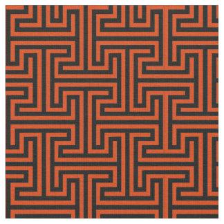 Corfu Red and Black Fabric