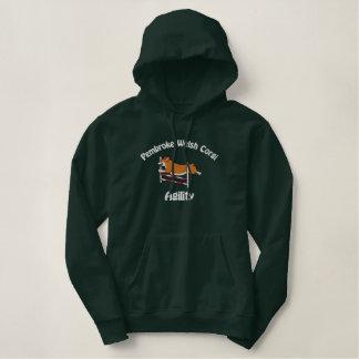 Corgi Agility Jump Embroidered Hoodie