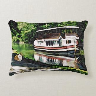 Corgi and Riverboat Decorative Cushion