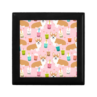 corgi bubble tea boba tea fabric cute gift box